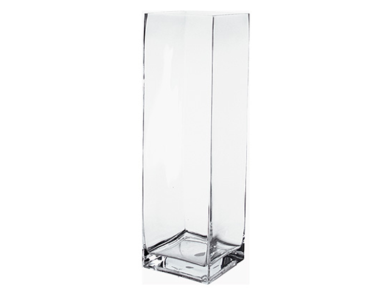 vase carre verre transparent. Black Bedroom Furniture Sets. Home Design Ideas