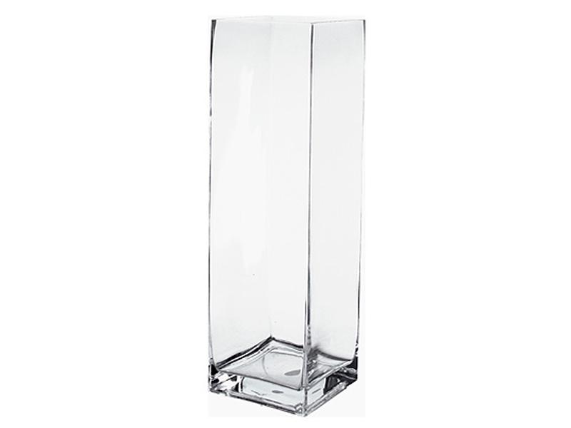 vase carre verre transparent. Black Bedroom Furniture Sets. Home Design Ideas