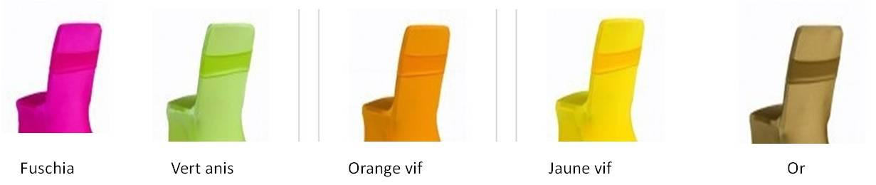 Housse de chaise lycra de couleur les voeux d isis - Chaises de couleur ...