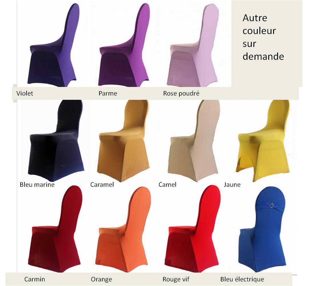 housse de chaise lycra de couleur les voeux d isis. Black Bedroom Furniture Sets. Home Design Ideas